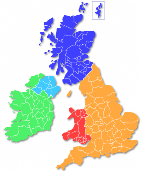 Map Of Uk Holiday Destinations.Map Search